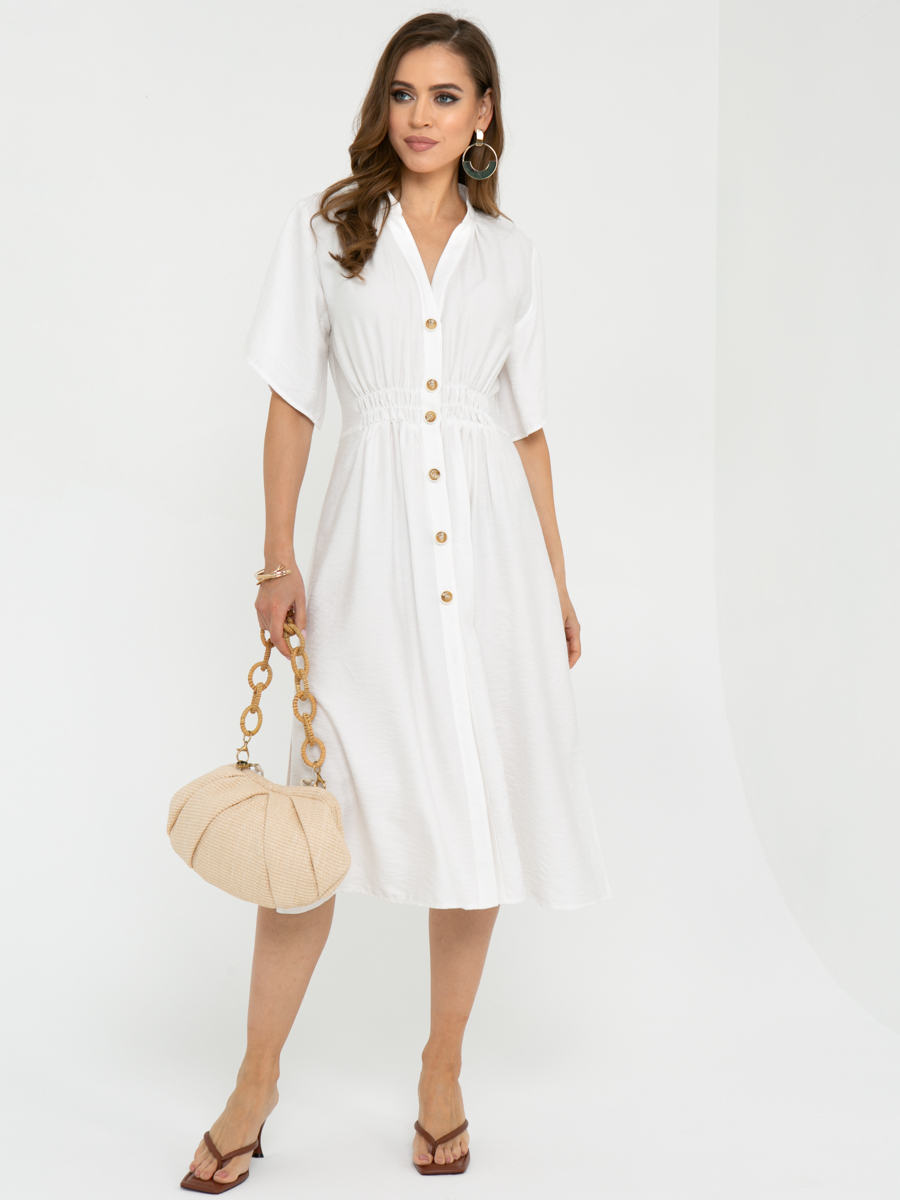 Платье L443 цвет:белый
