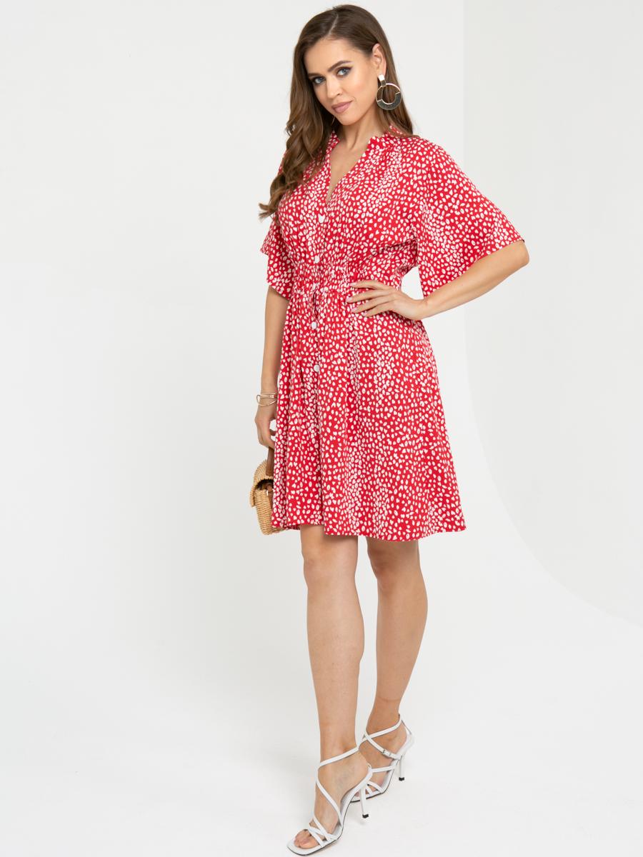 Платье L452 цвет: красный