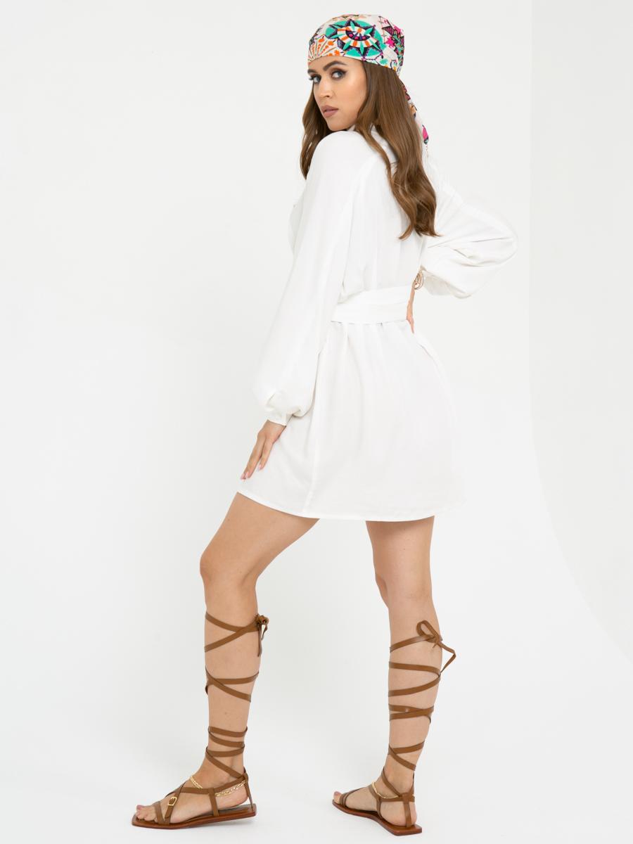 Платье L444  цвет: белый