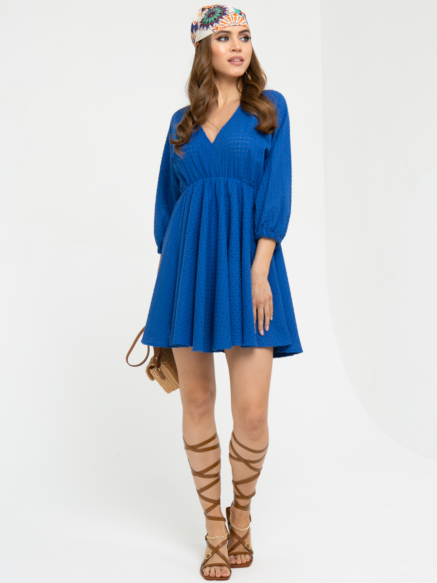 Платье L455 цвет: синий