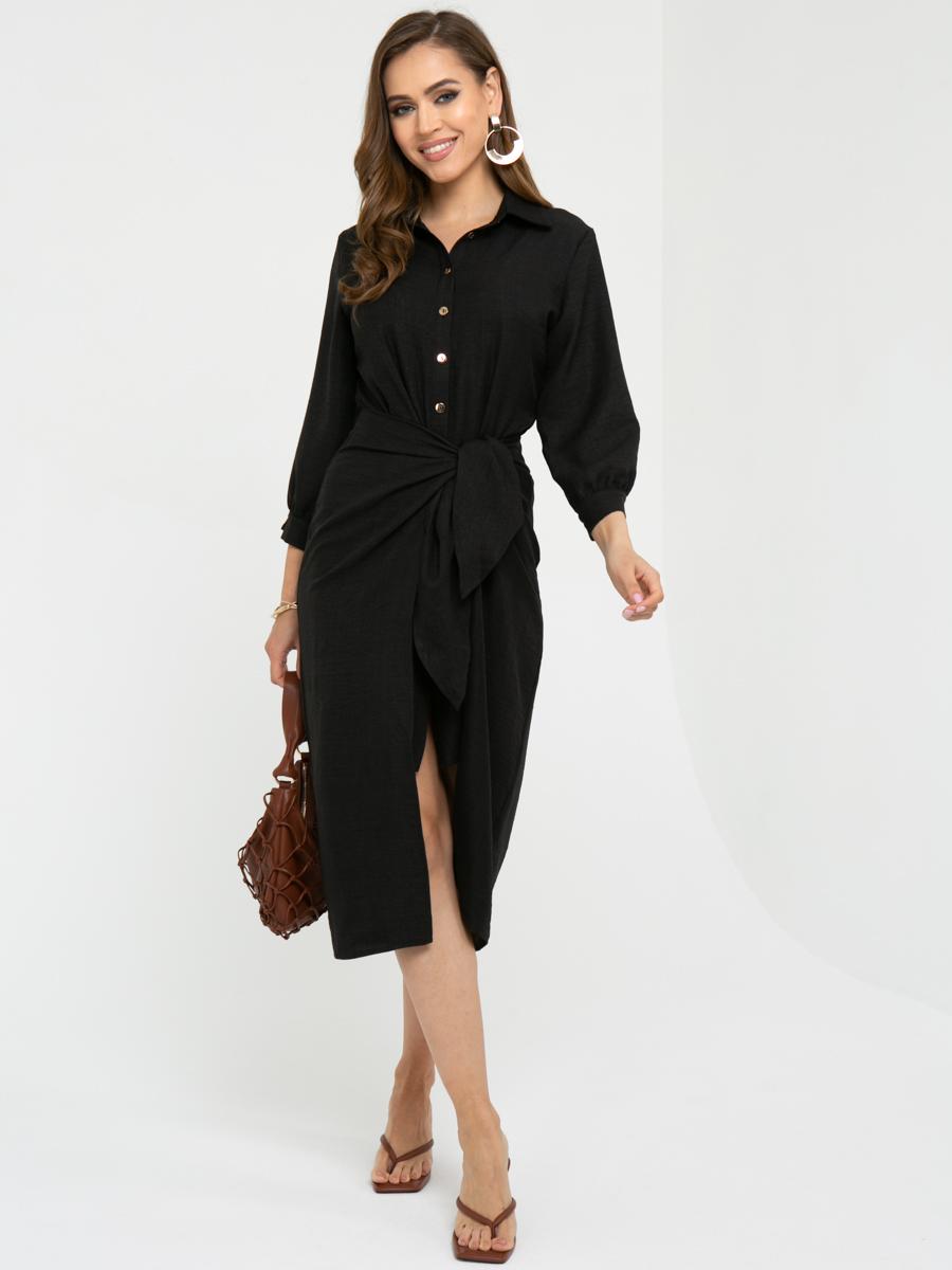 Платье L449 цвет: черный