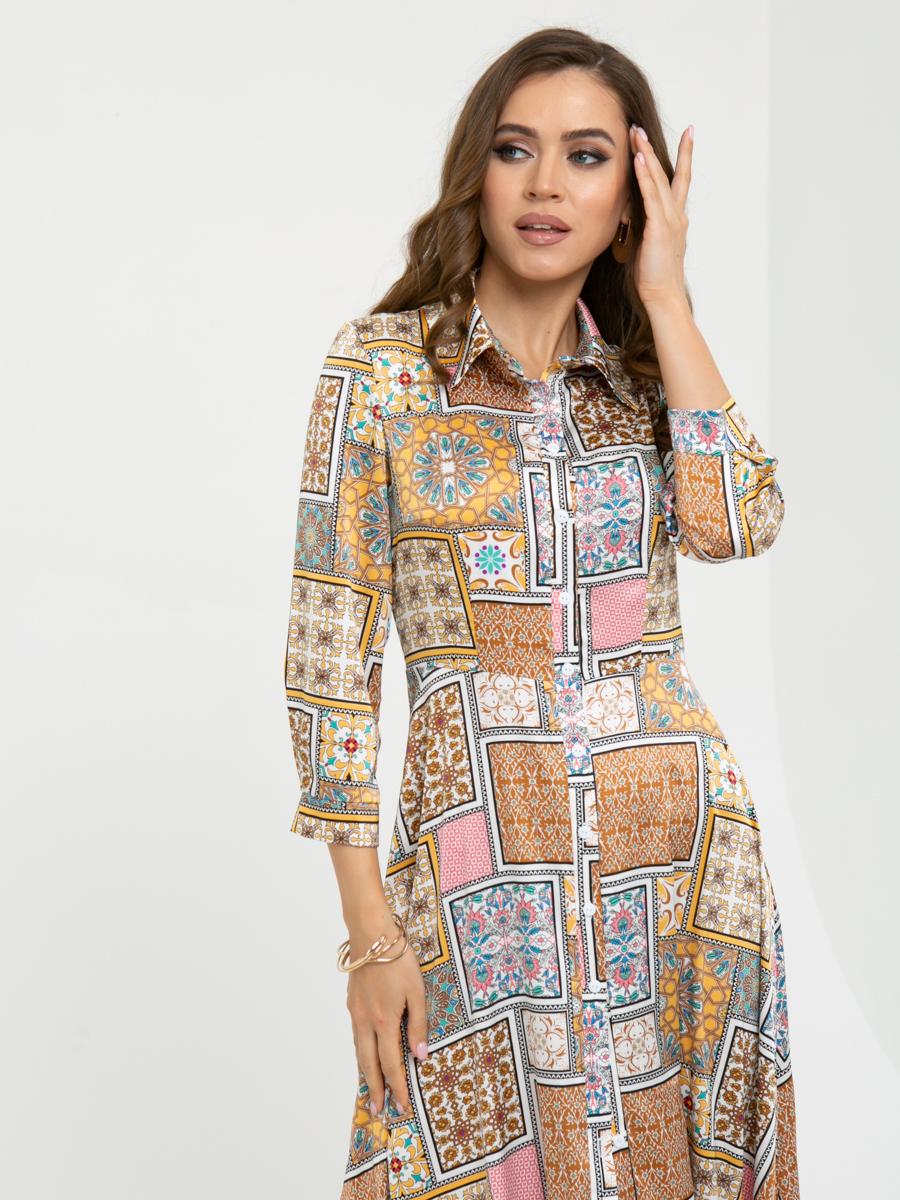 Платье L453 цвет:желтый
