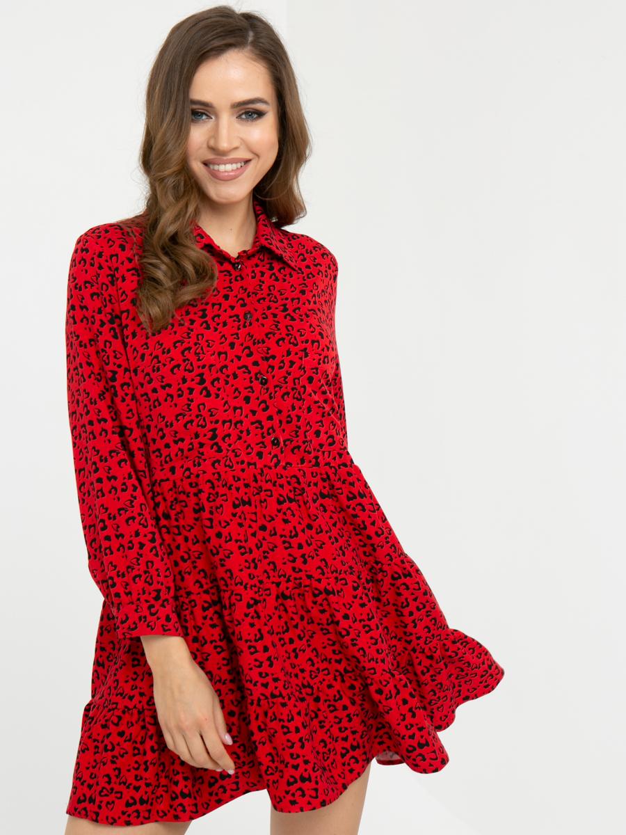 Платье L448 цвет: красный