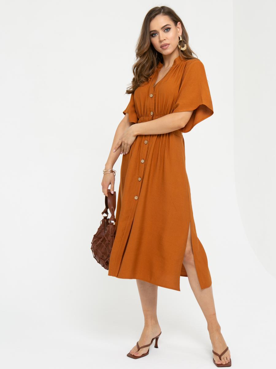 Платье L443 цвет: терракотовый