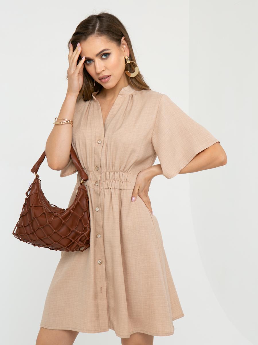 Платье L452 цвет: бежевый