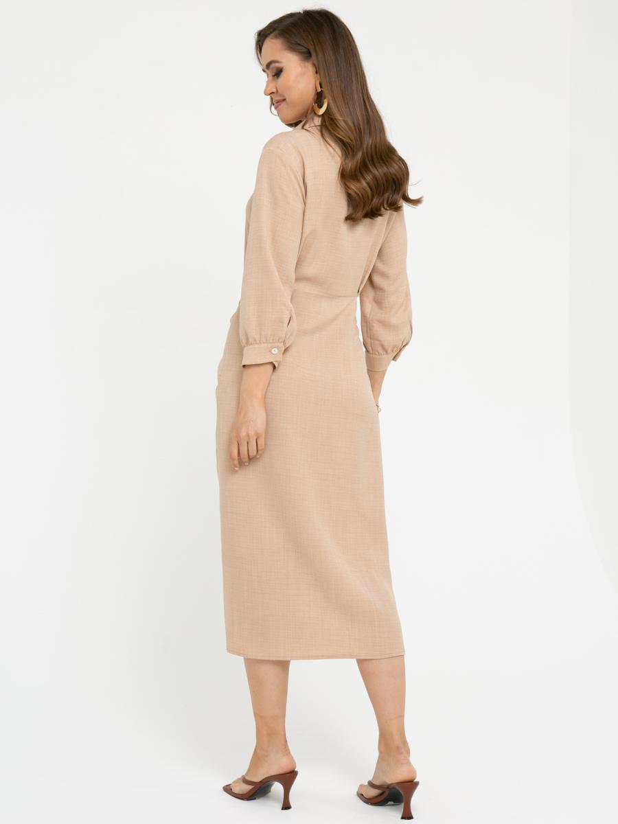 Платье L449 цвет: бежевый