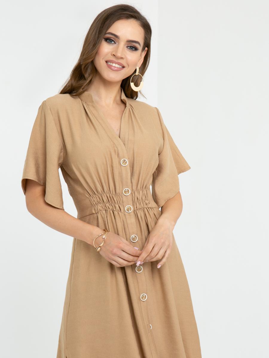 Платье L443 цвет: бежевый
