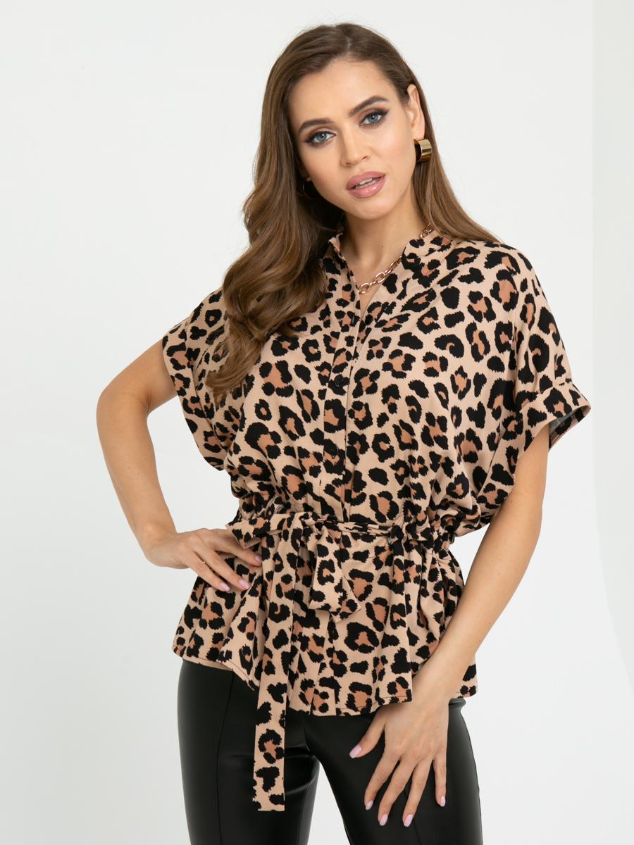 Блузка L445 цвет: коричневый