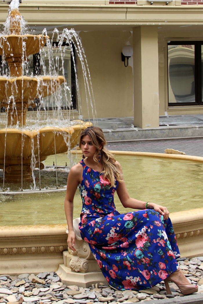 039 Платье цвет синий
