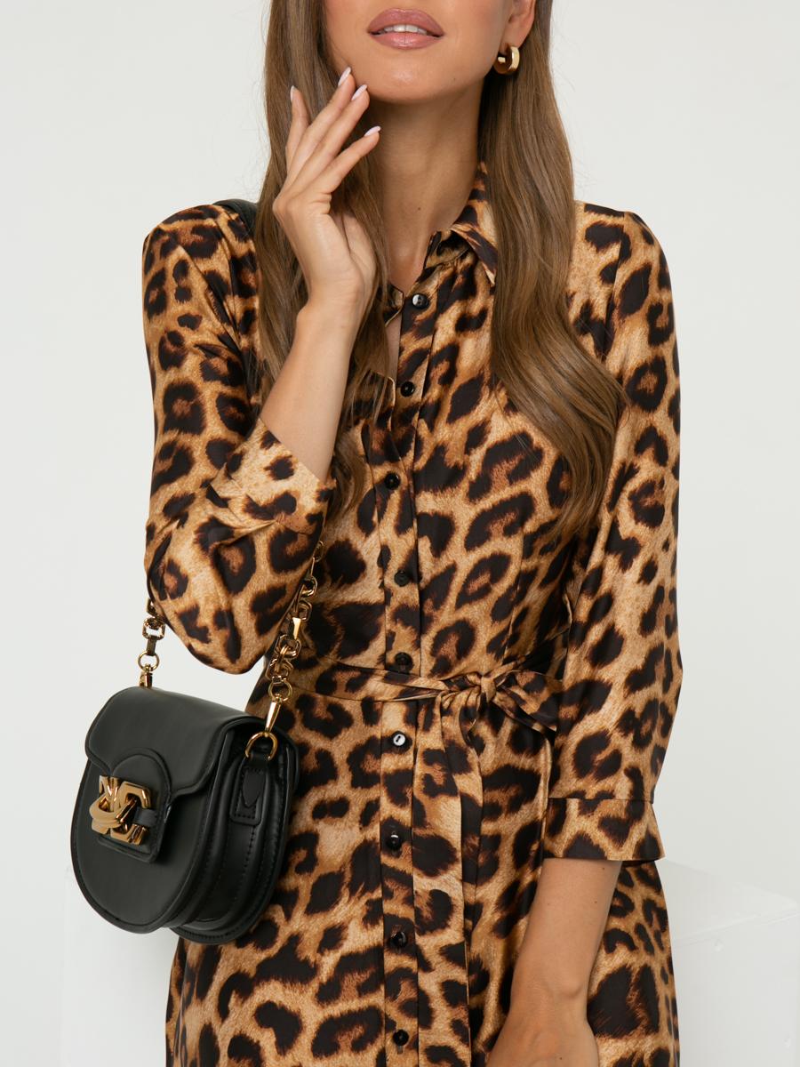 Платье A407 цвет: коричневый