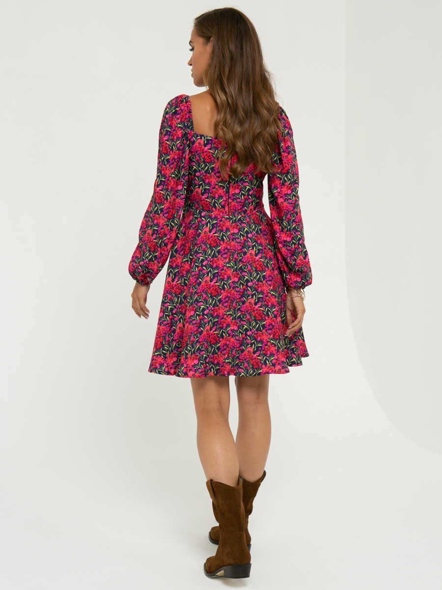 Платье A462 цвет: красный