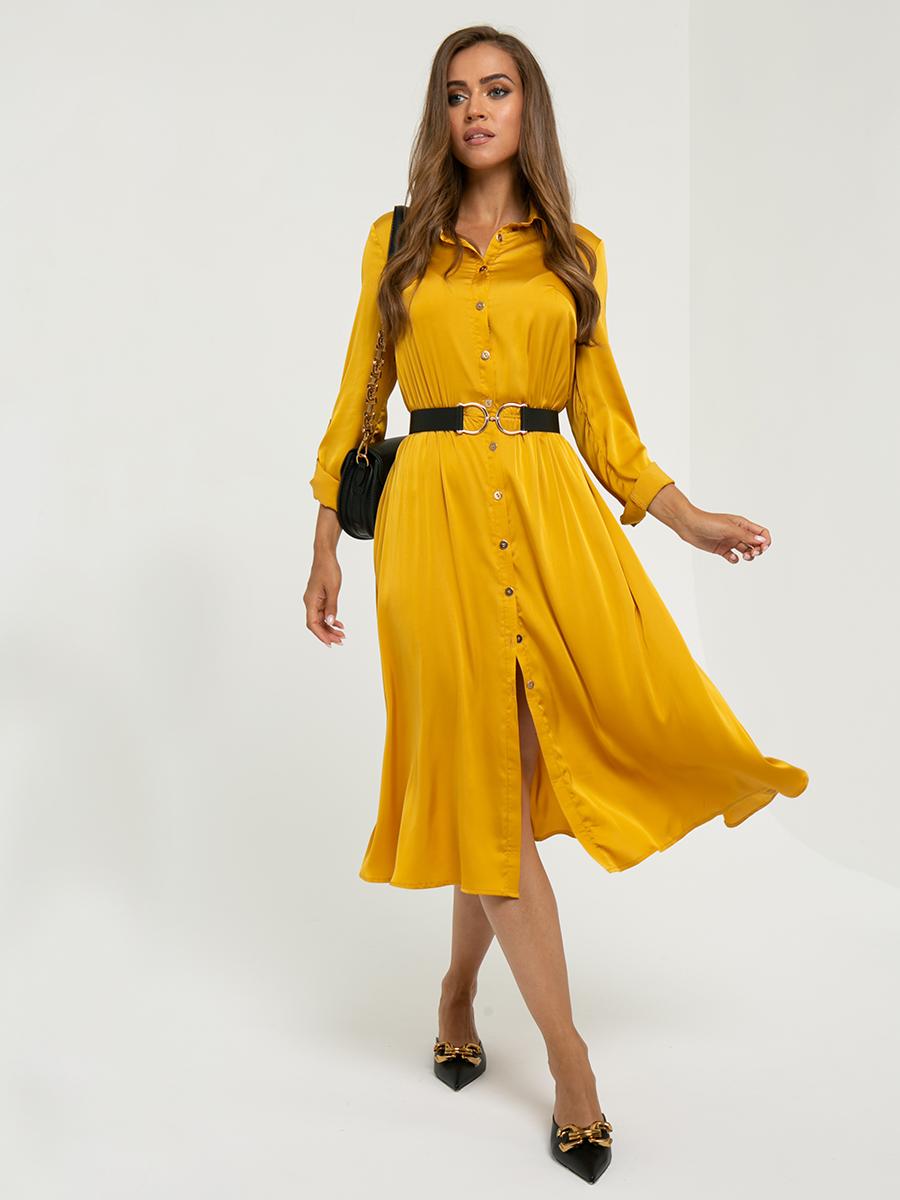 Платье A456 цвет: горчичный