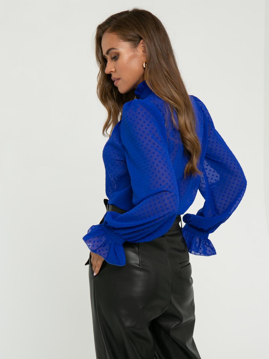 Блузка Z261 цвет: ярко-синий