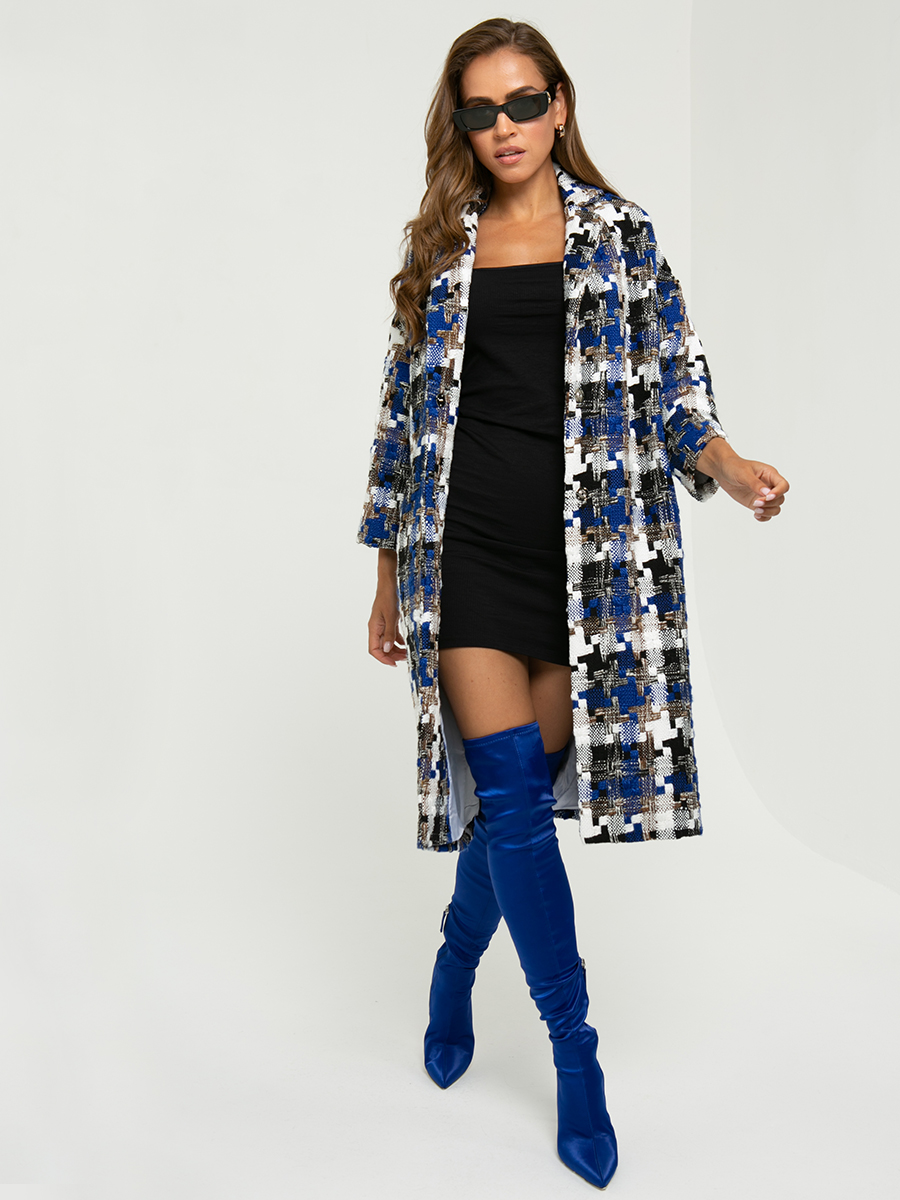 Пальто A324 цвет: синий