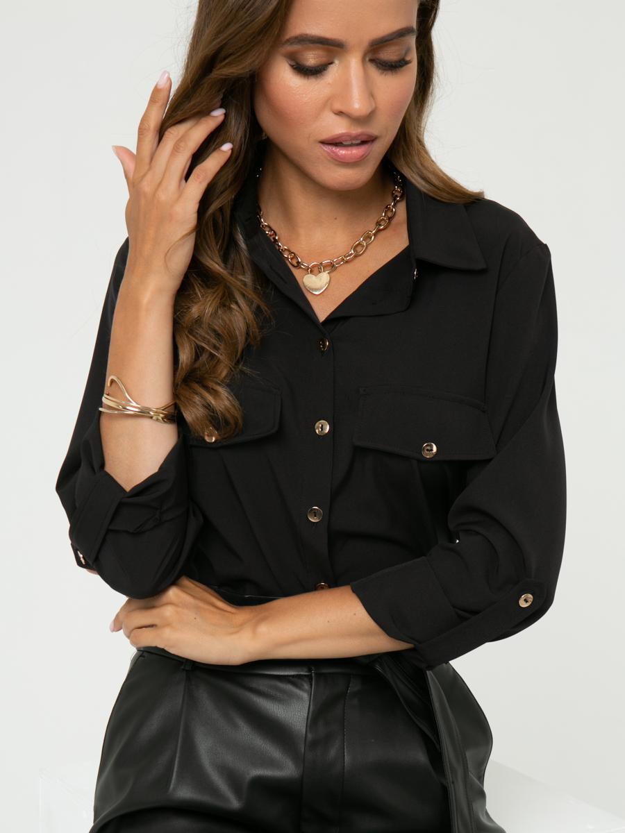 Блузка A458 цвет: черный