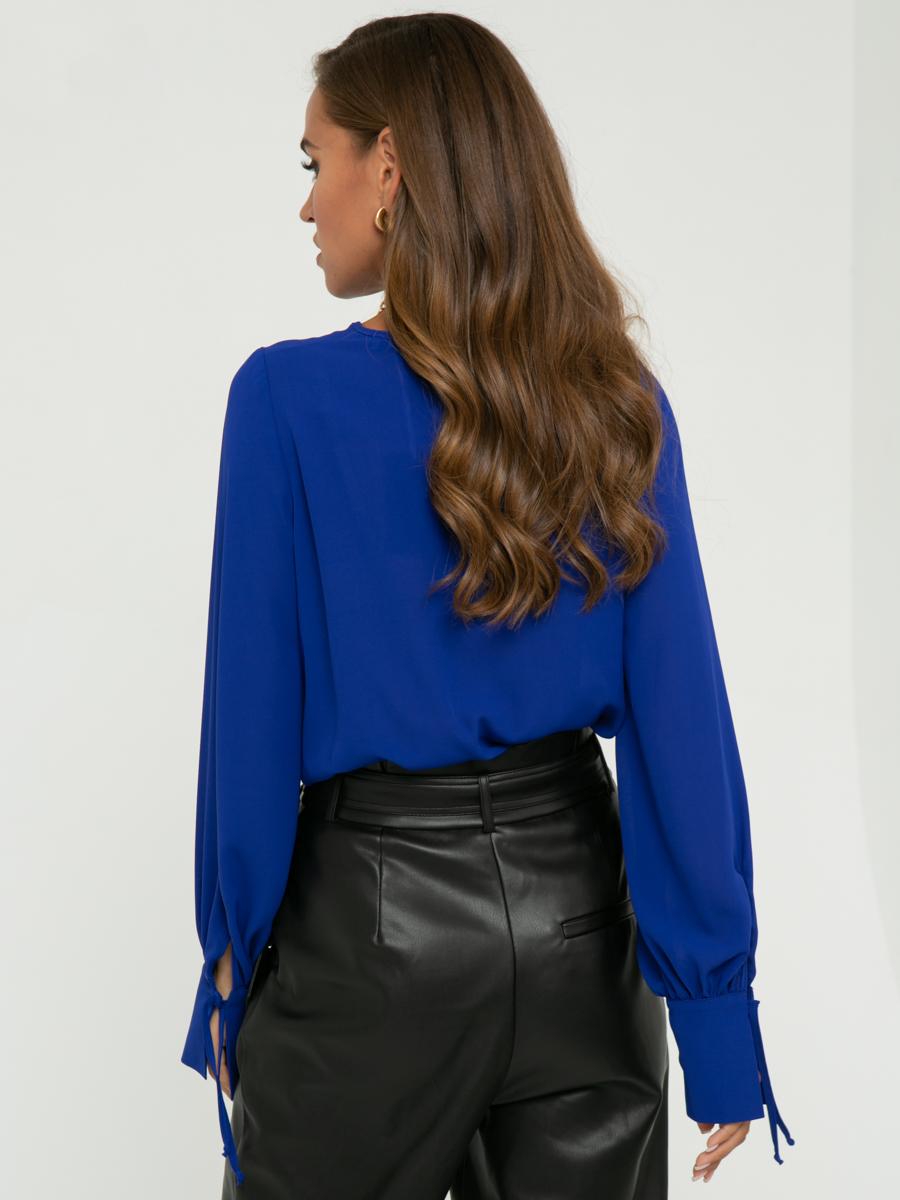 Блузка V376 цвет: ярко-синий