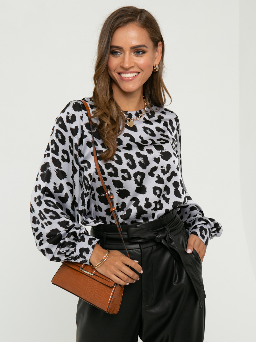 Блузка A403 цвет: серый