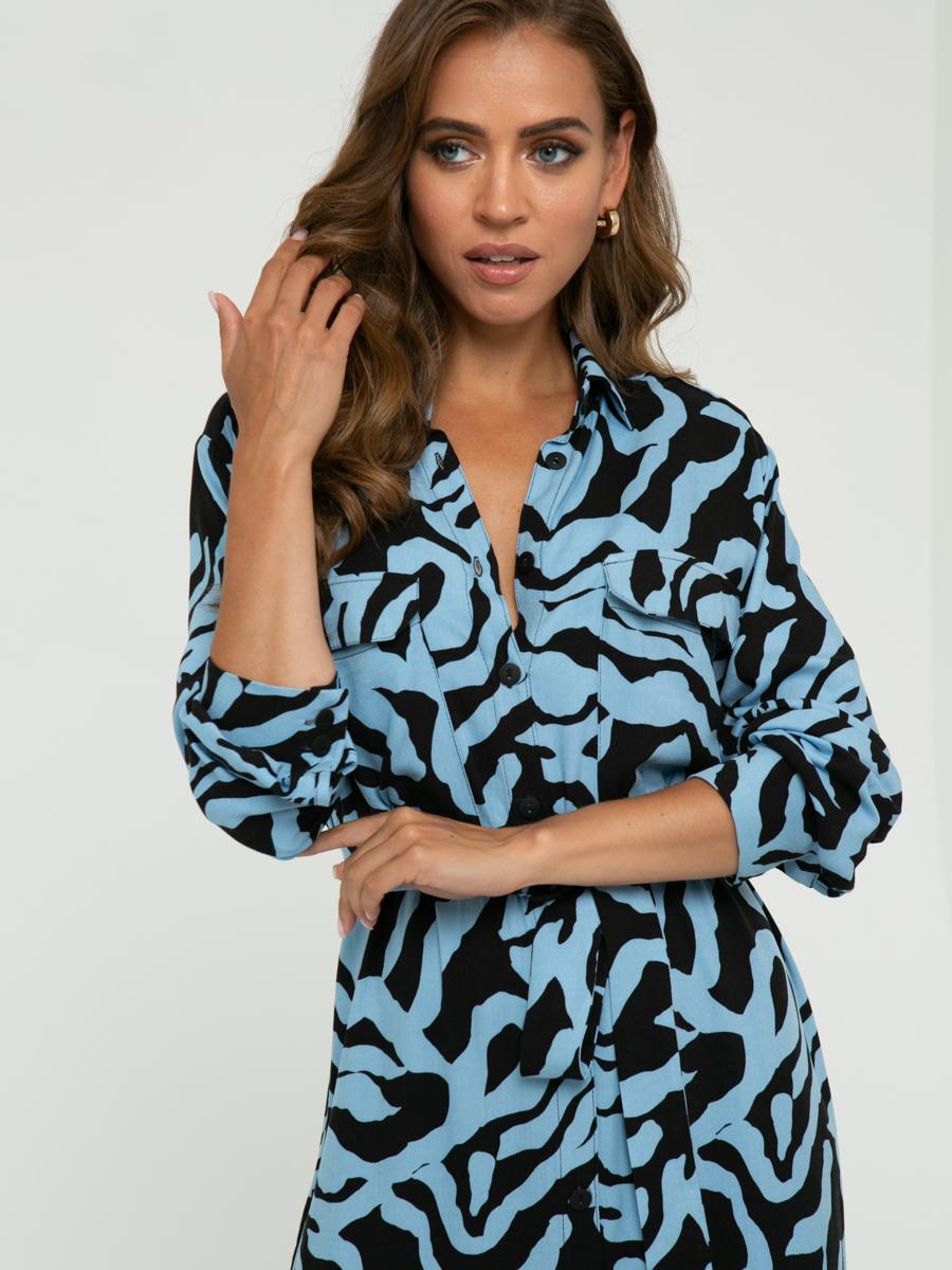 Платье A461 цвет: голубой