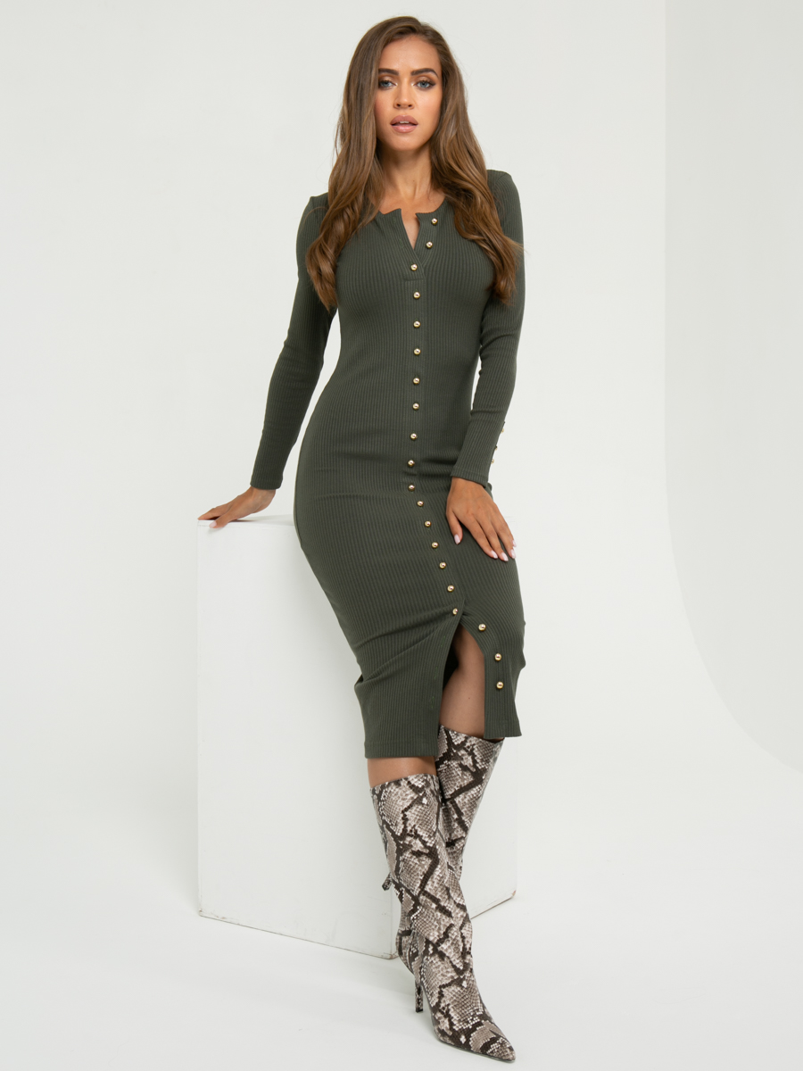 Платье A411 цвет: хаки