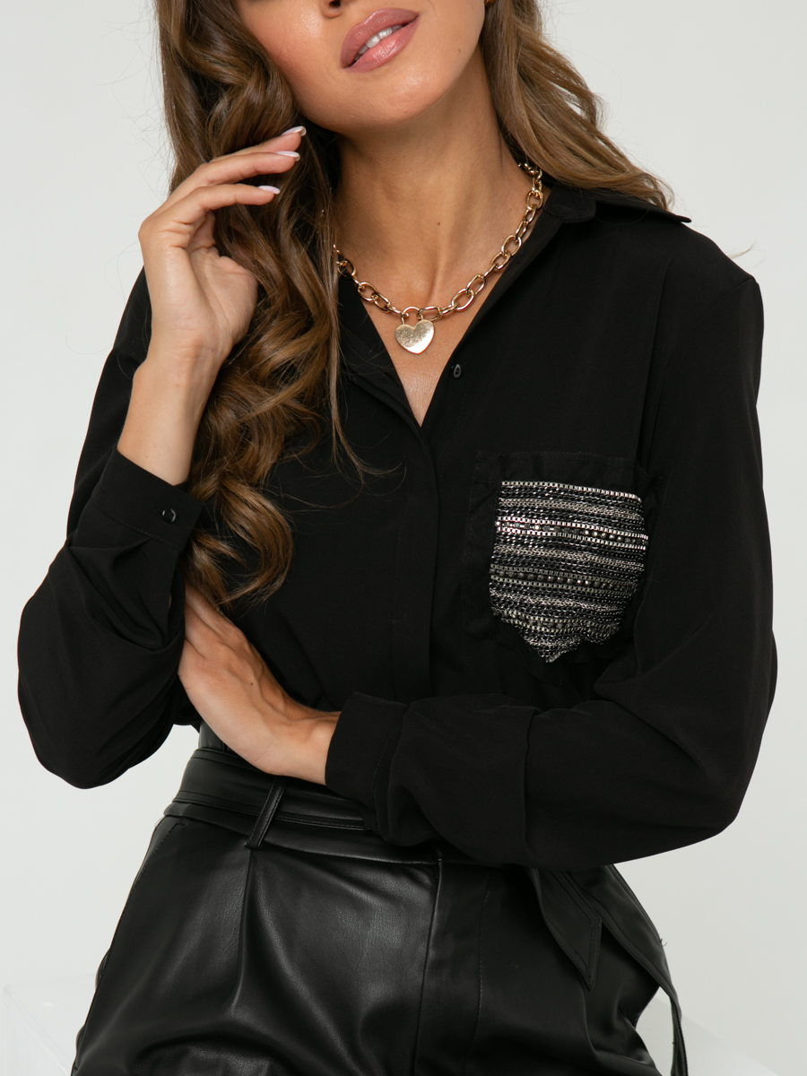 Блузка A460 цвет: черный