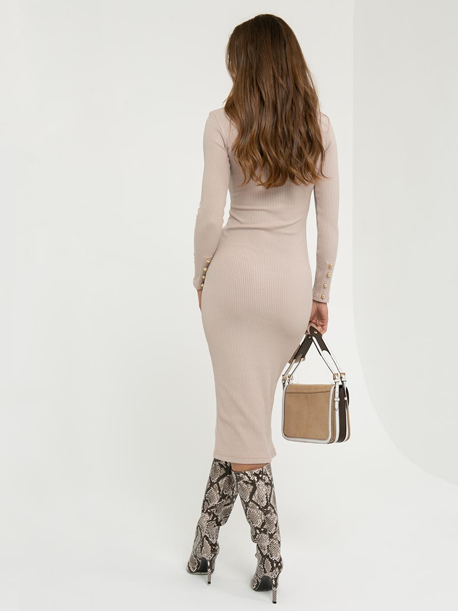 Платье A411 цвет: бежевый