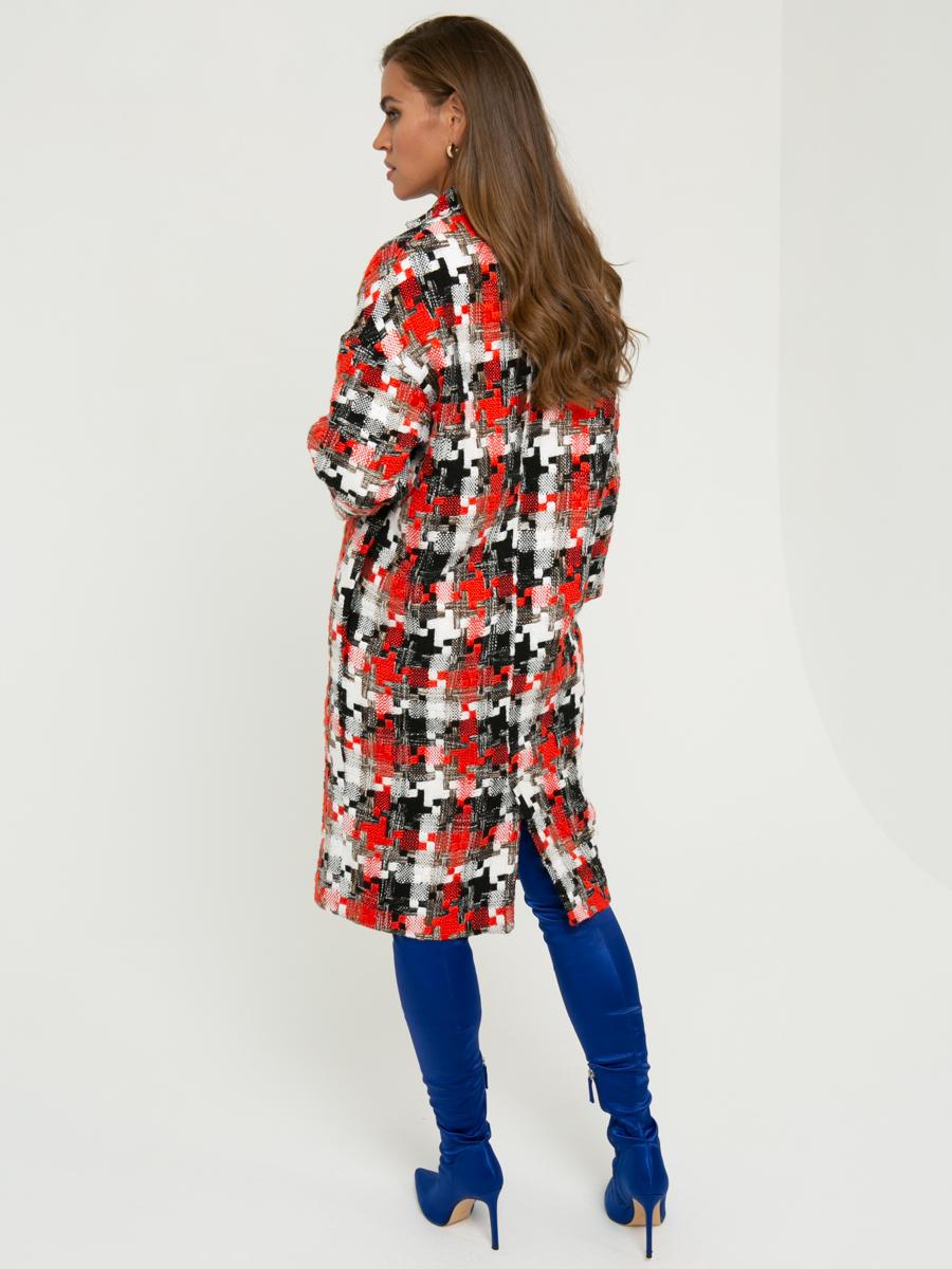 Пальто A324 цвет: коралловый