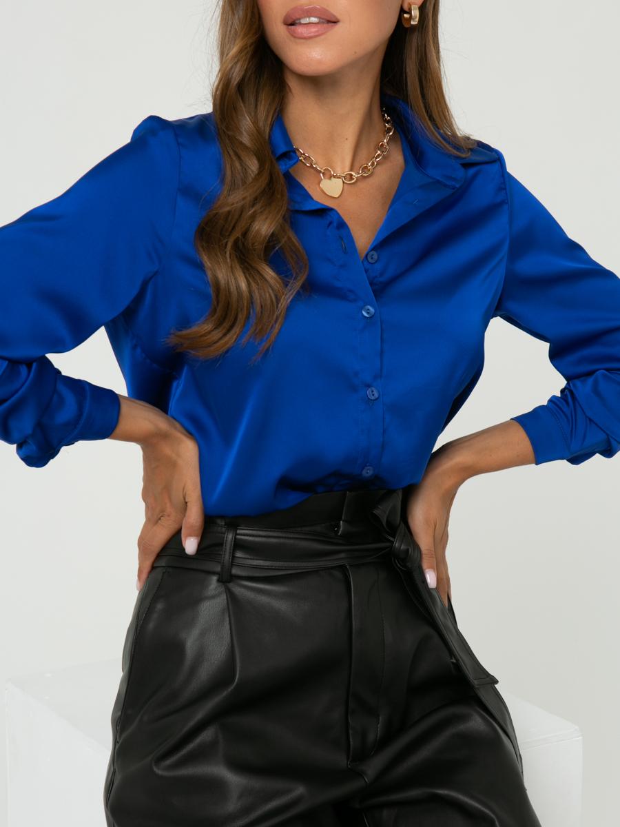 Блузка A463 цвет:ярко-синий