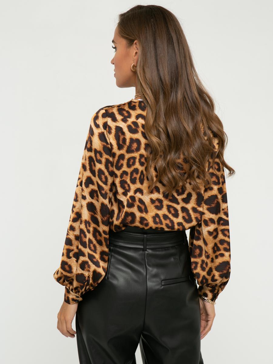 Блузка A403 цвет: коричневый