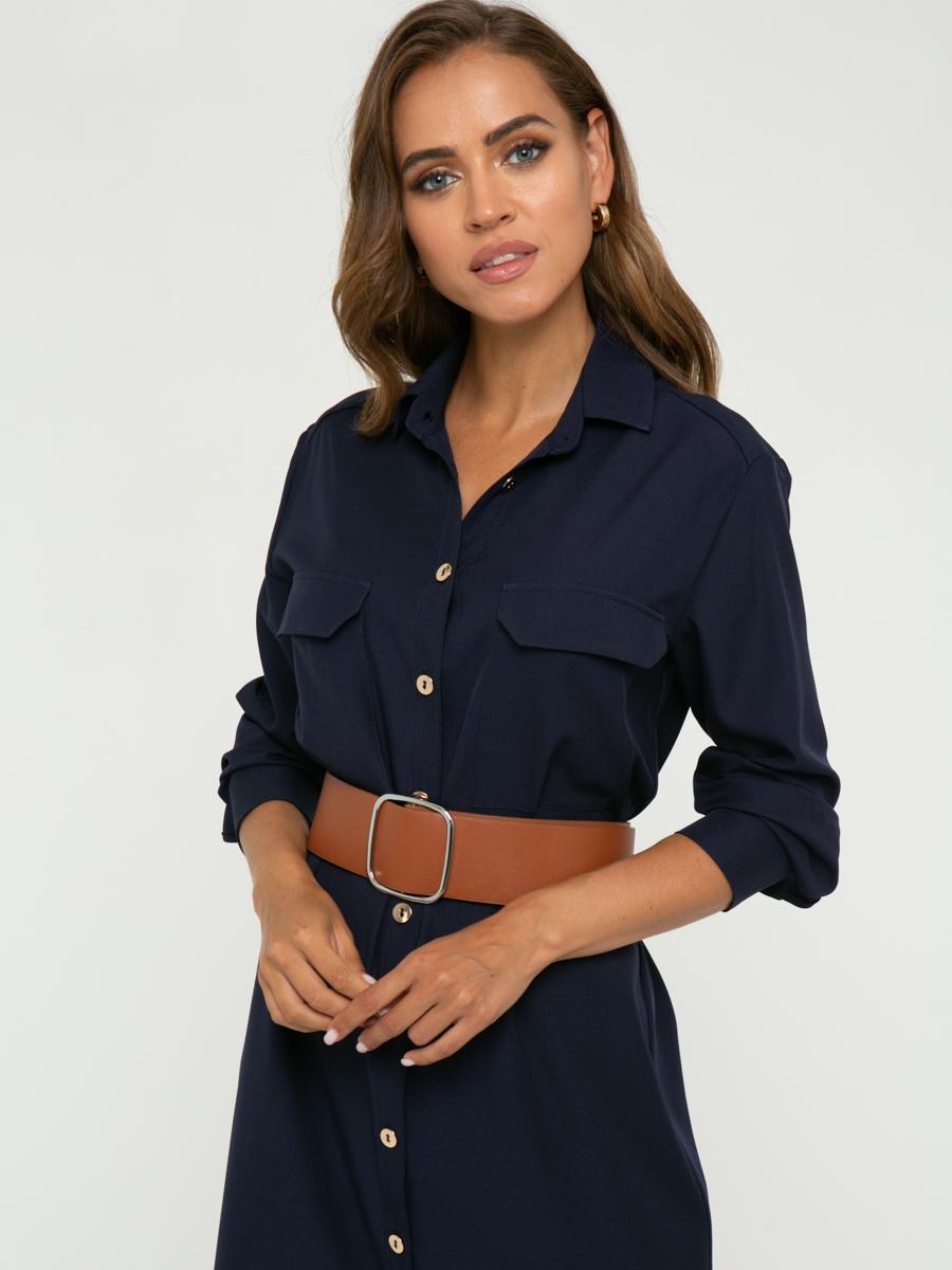 Платье A461 цвет: темно-синий