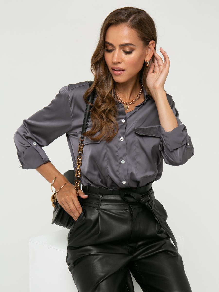 Блузка A457 цвет: серый