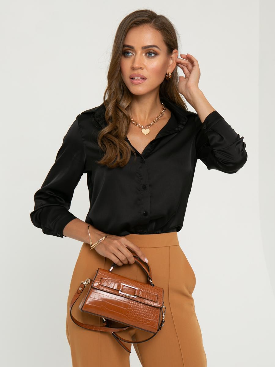 Блузка A463 цвет: черный