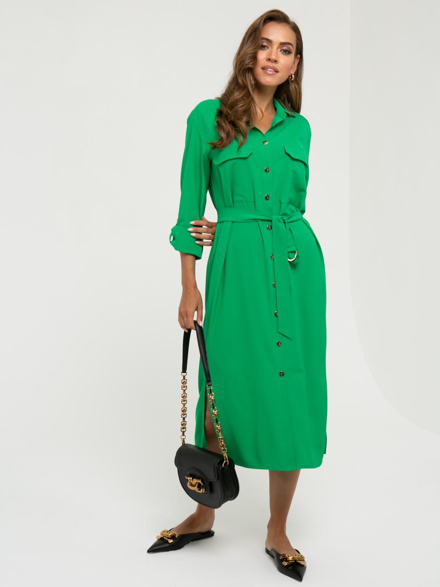 Платье A461 цвет: зеленый