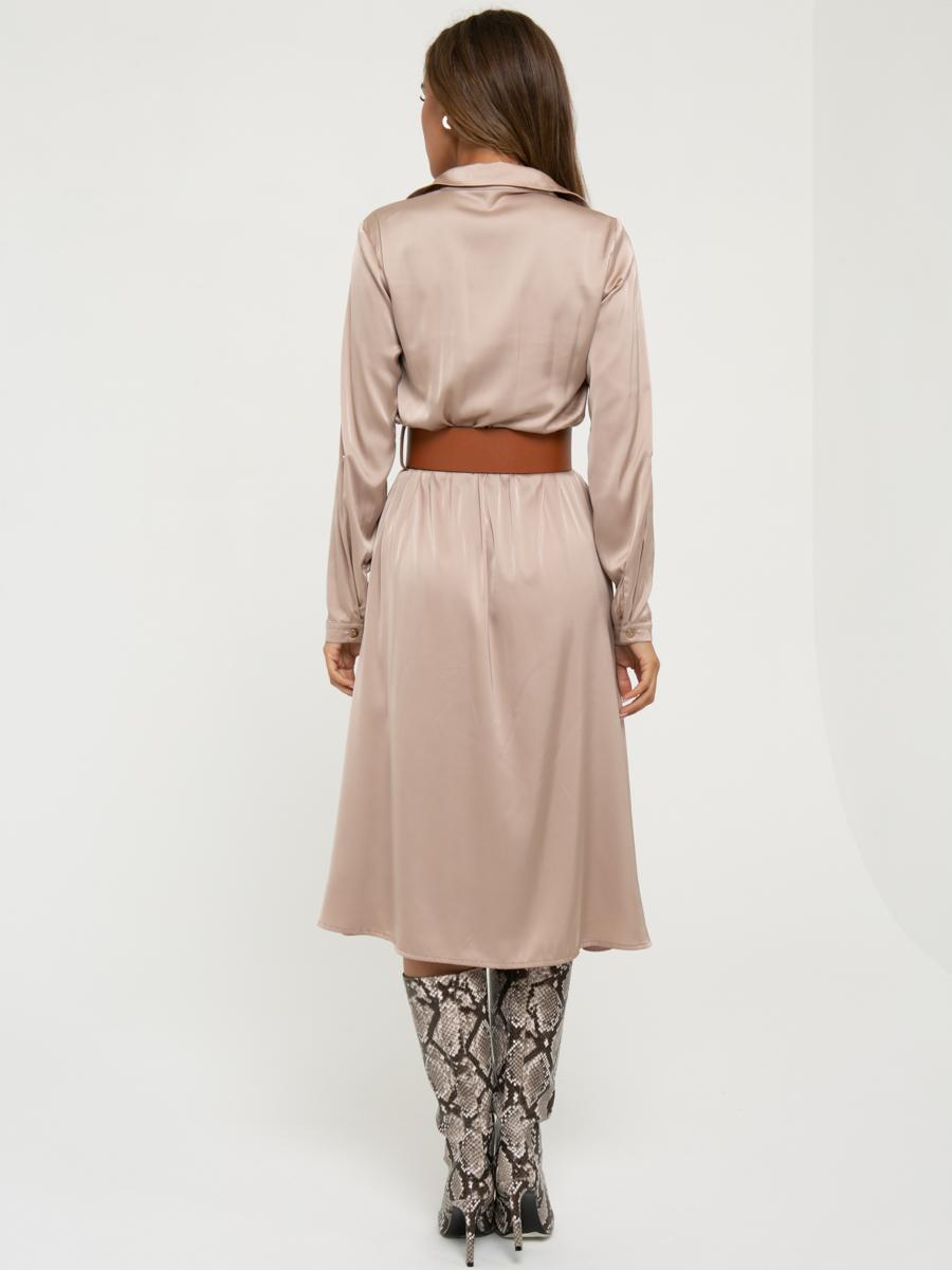 Платье A456 цвет: бежевый