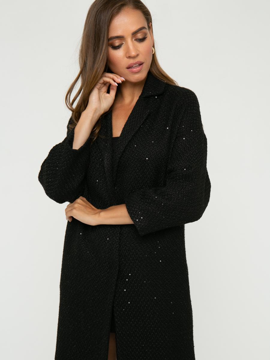 Пальто A324 цвет: черный