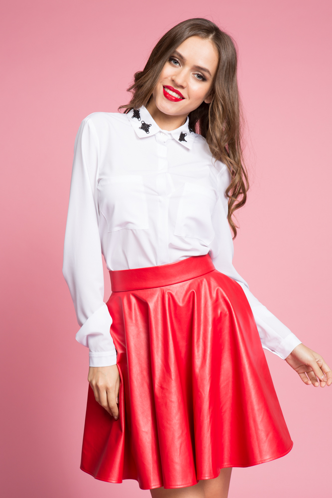 045 Блуза белая