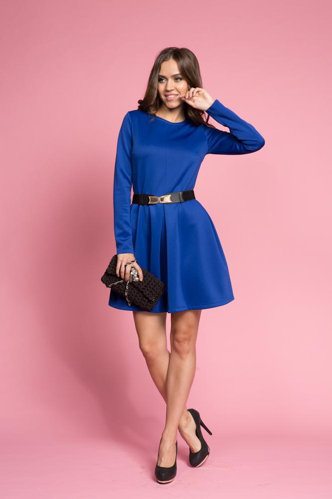 016 Платье синее