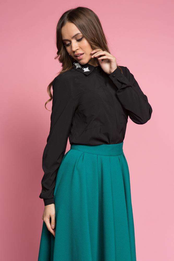 045 Блуза черная