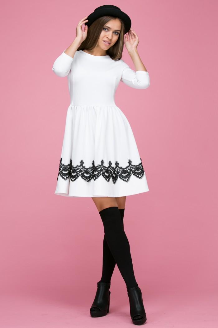 105 Платье цвет молочный