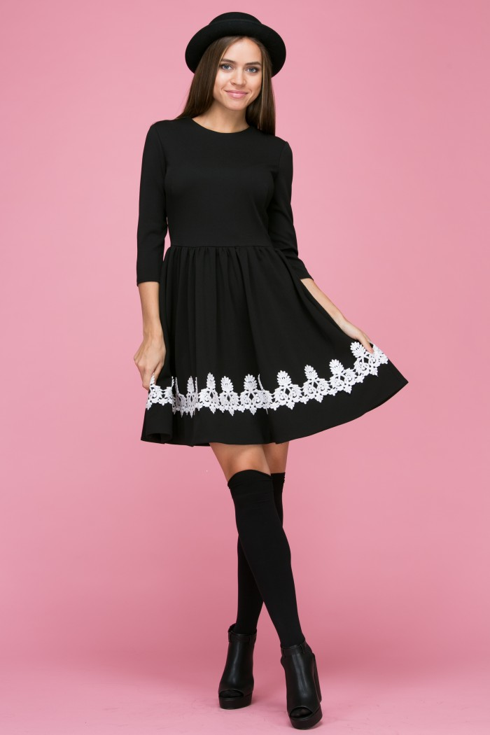105 Платье цвет черный