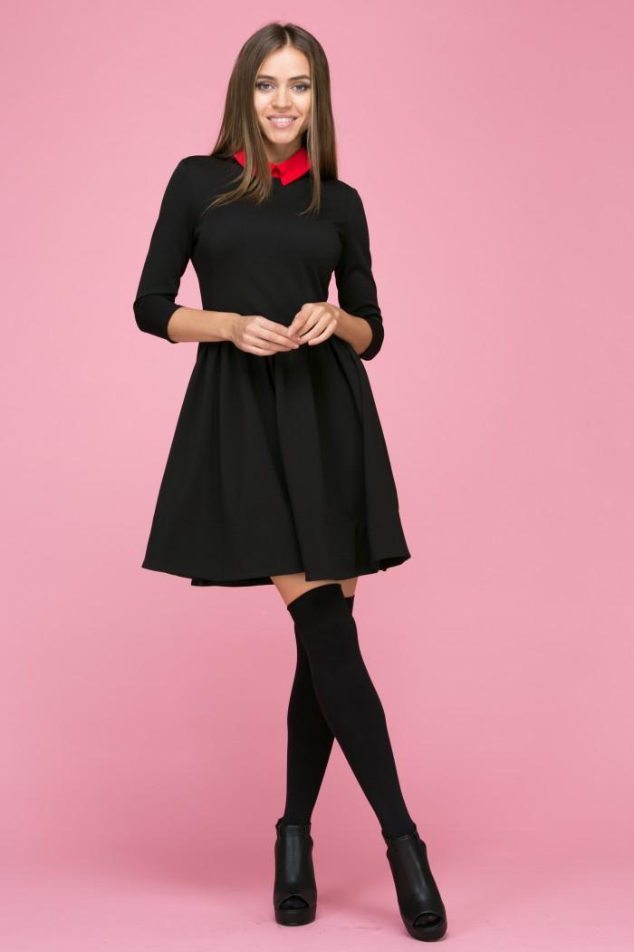 104 Платье цвет черно-красный