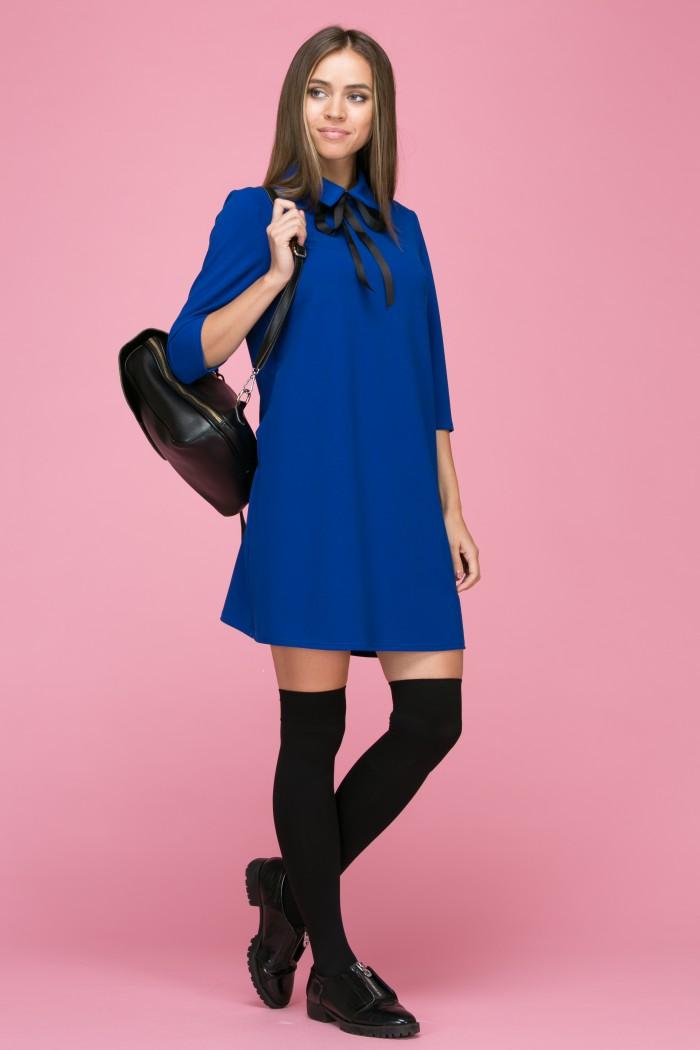 117 Платье цвет ярко-синий