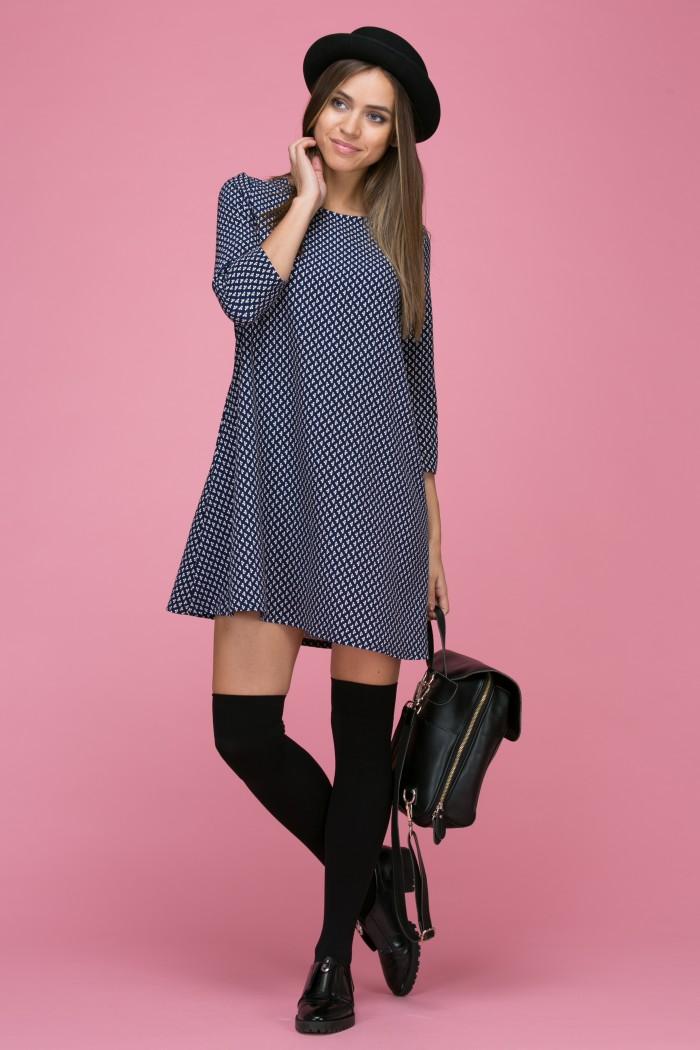107 Платье цвет темно-синиий