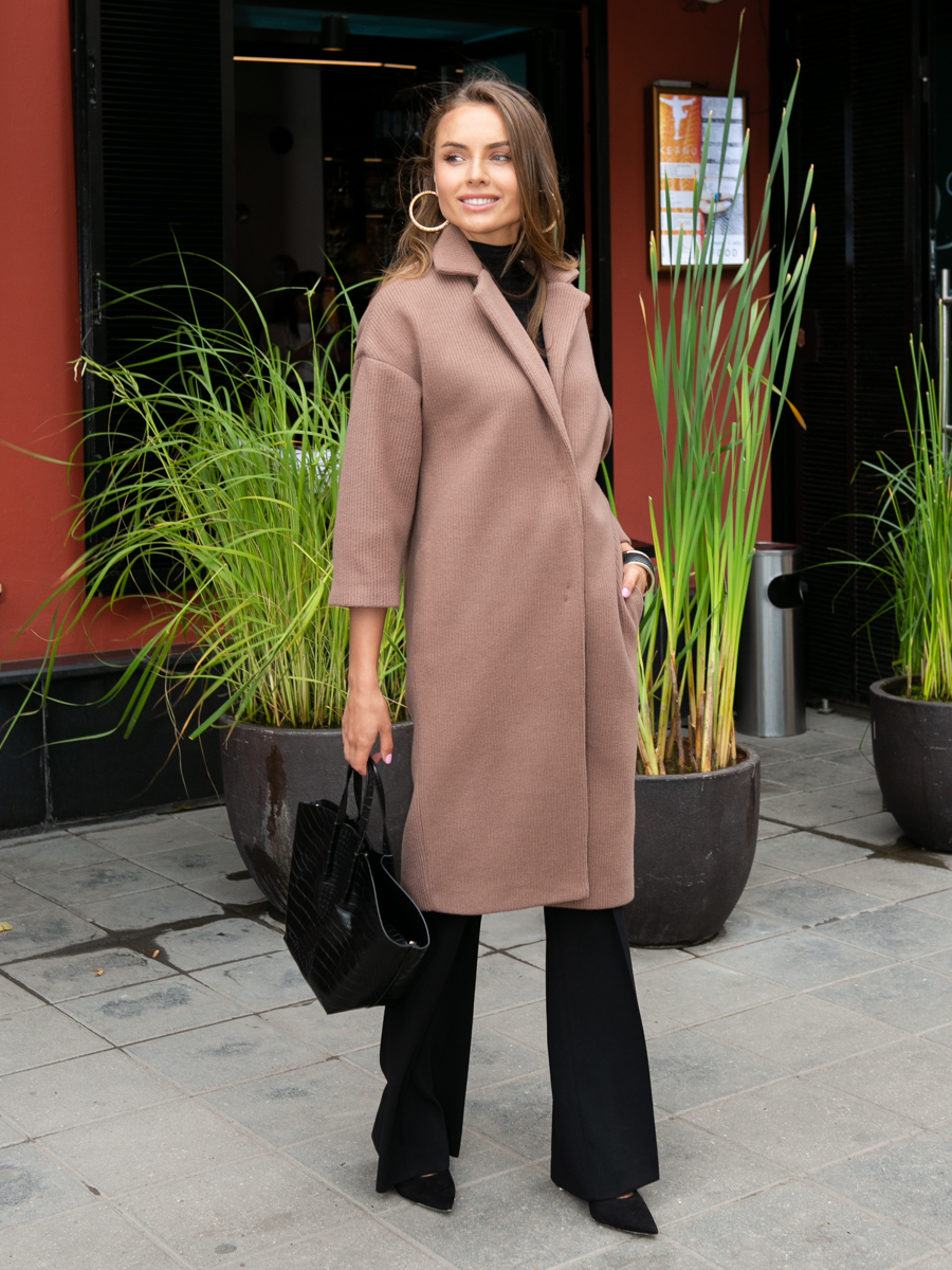 Пальто A324 цвет капучино