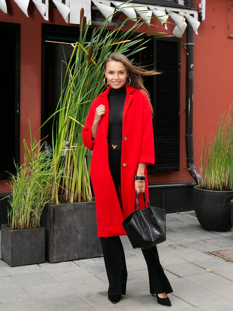 Пальто A324 цвет красный