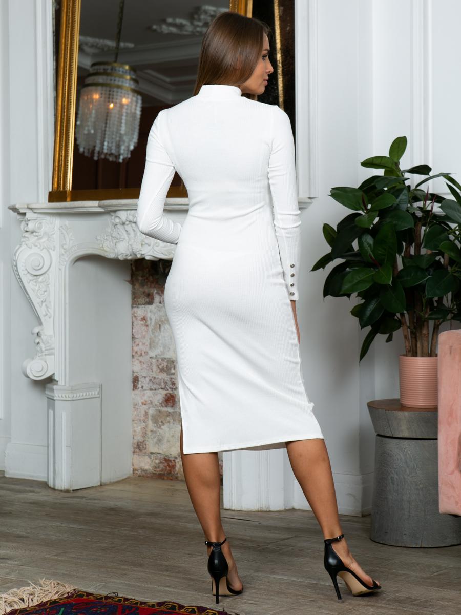 Платье A313 цвет молочный
