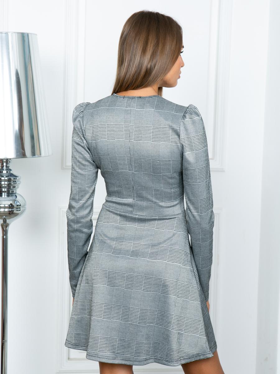 Платье A309 цвет серый