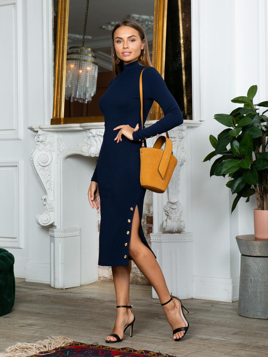 Платье A313 цвет синий