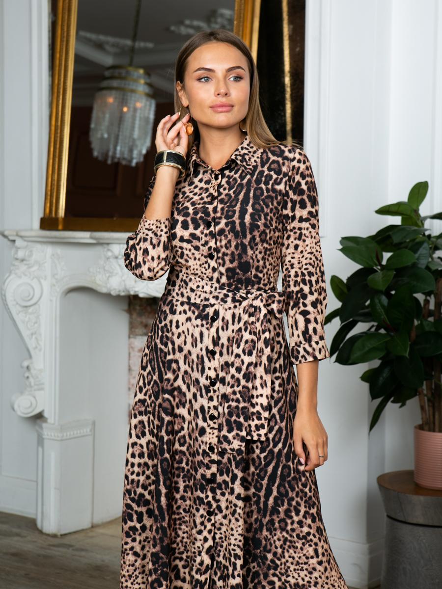 Платье A305 цвет коричневый