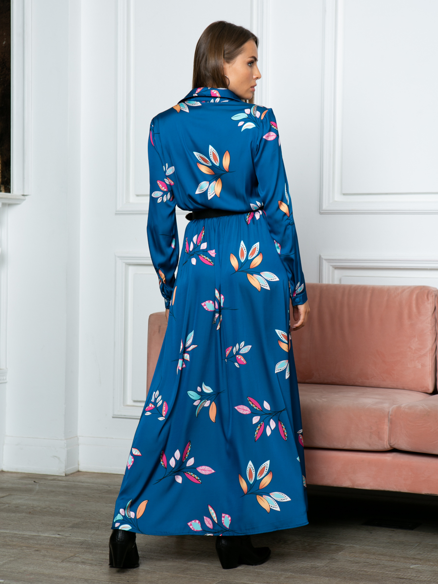 Платье A314 цвет изумрудный