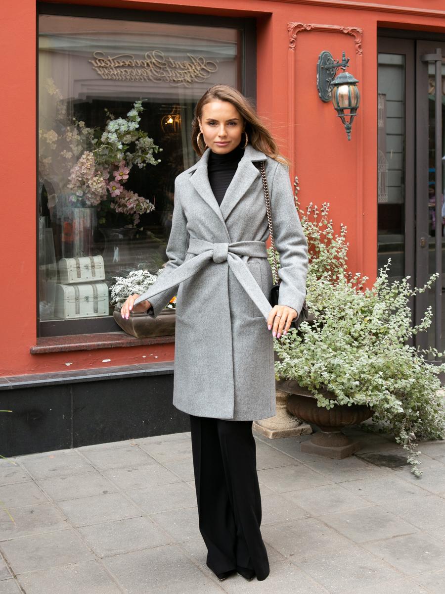 Пальто A315 цвет серый